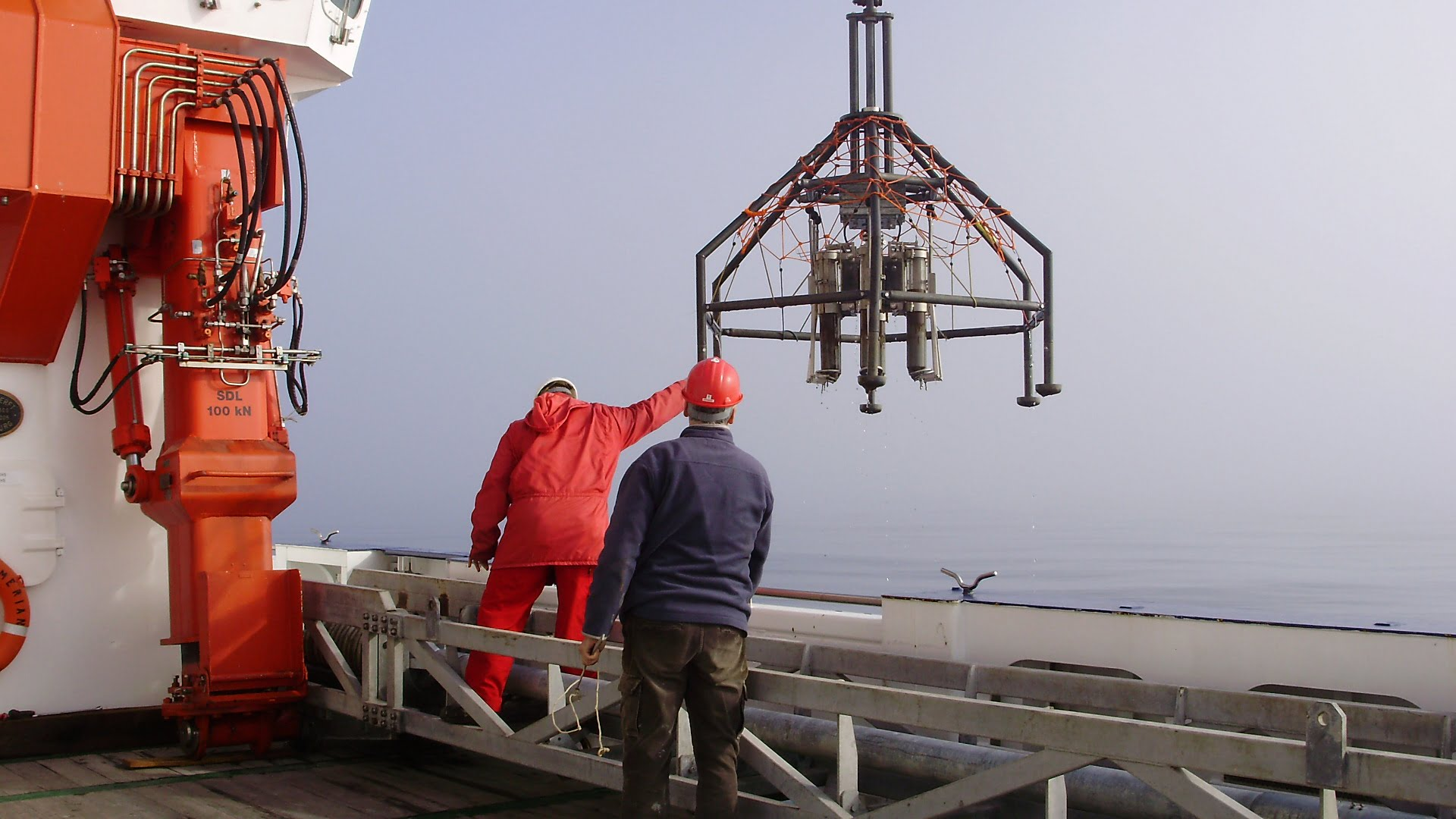 Multicorer in Baffin Bay | Research Group Heinz | APRI